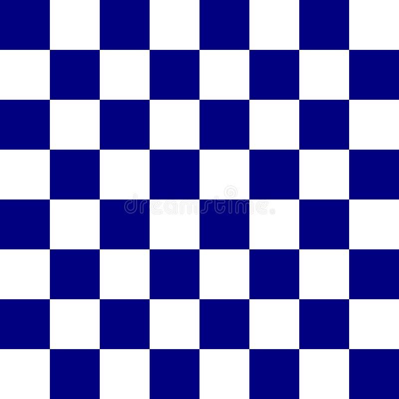 蓝色棋盘 向量例证