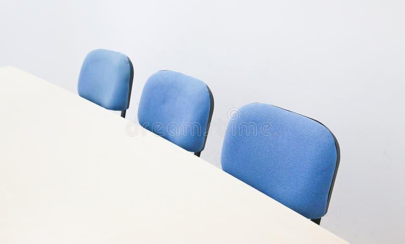 蓝色椅子 库存图片