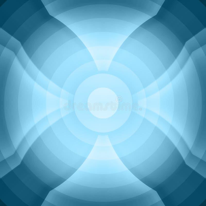 蓝色模式无缝的翼 免版税库存图片