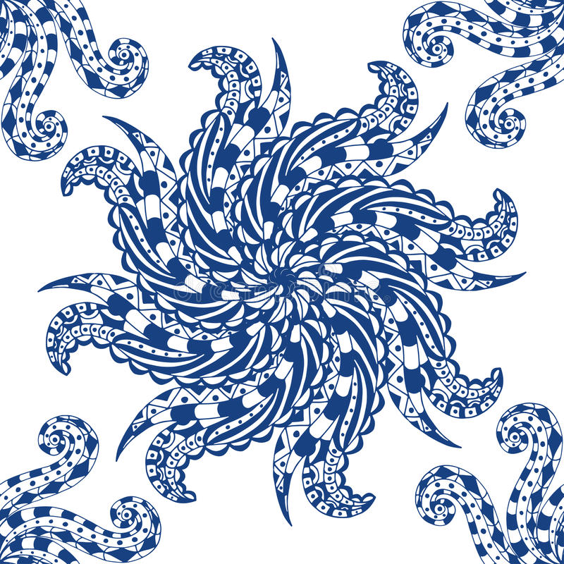 Download 蓝色模式 向量例证. 插画 包括有 图画, 花卉, 墨水, brusher, 蓝色, 住宅, 装饰品, 佩兹利 - 59101313