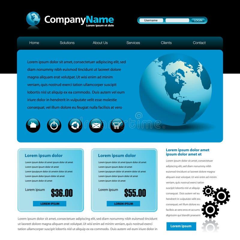 蓝色模板网站
