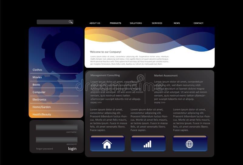 蓝色模板网站 库存例证