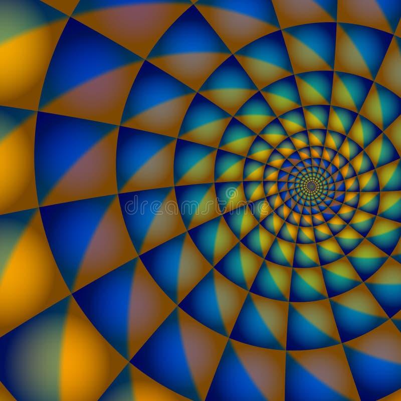 蓝色橙色螺旋 向量例证