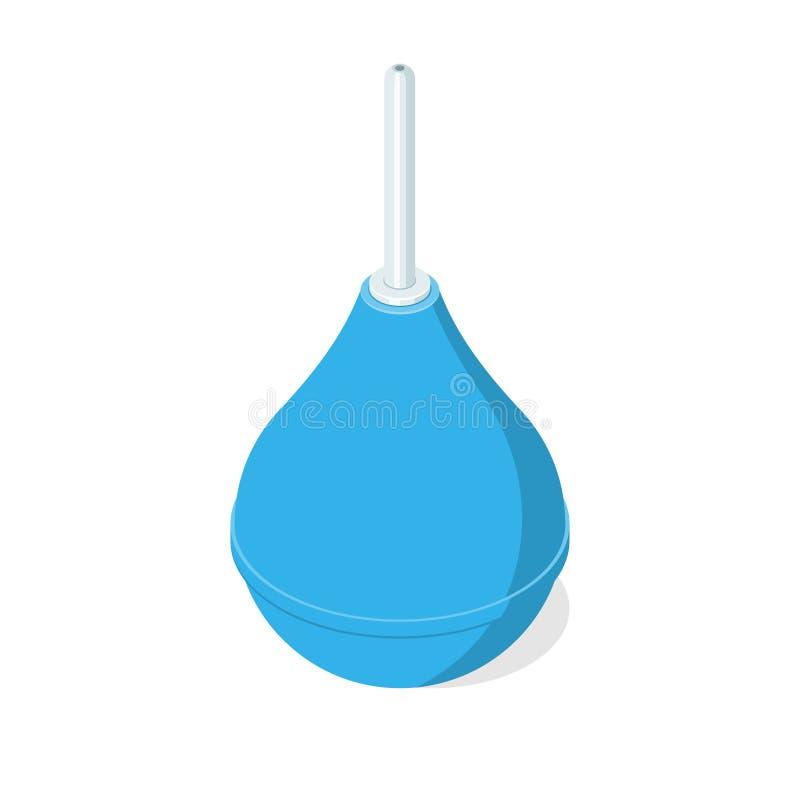 蓝色橡胶灌肠 库存例证
