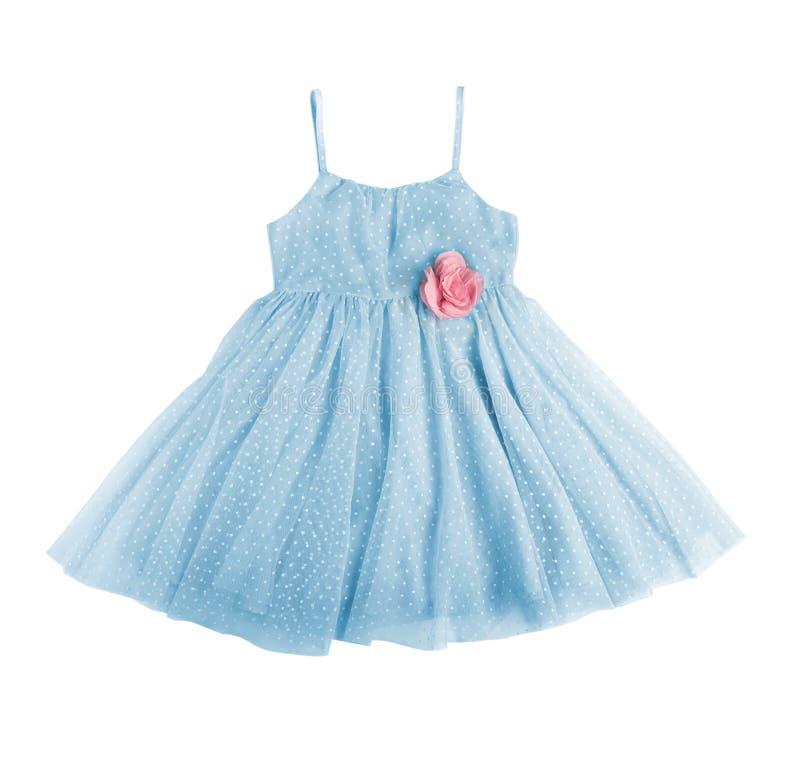 蓝色欢乐礼服 免版税库存图片