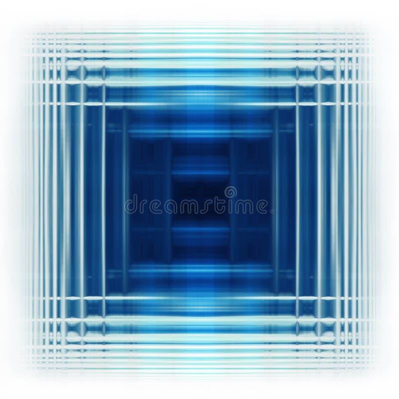 蓝色正方形 库存例证