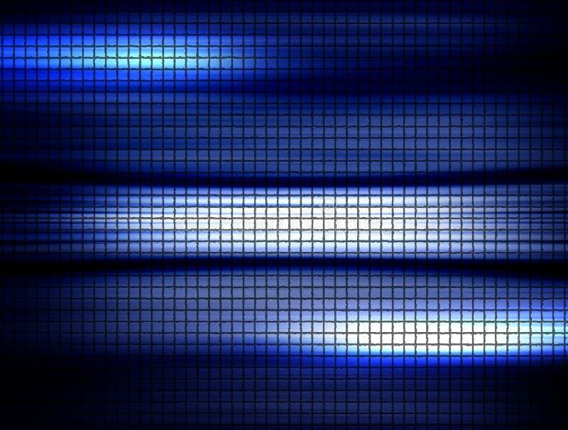 蓝色正方形 向量例证