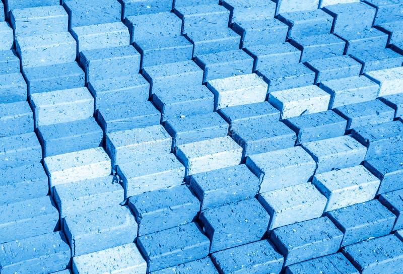 蓝色步背景 免版税图库摄影