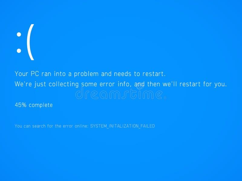 蓝色死亡屏幕 库存例证