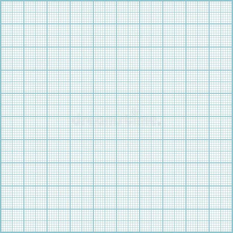 蓝色毫米纸背景 库存例证
