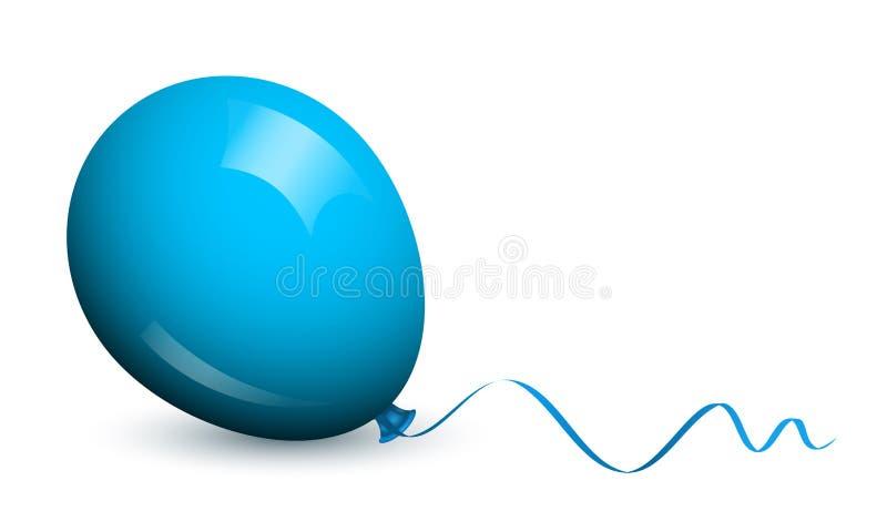 蓝色气球 向量例证