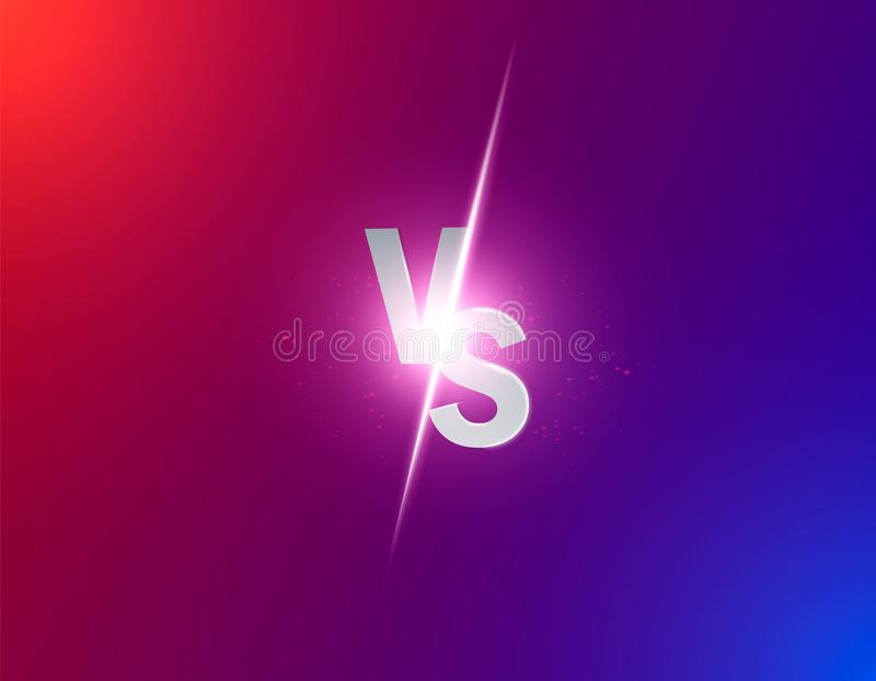 蓝色氖对商标对体育和战斗竞争的信件 作战对比赛,比赛概念竞争对 传染媒介illustrati 库存例证