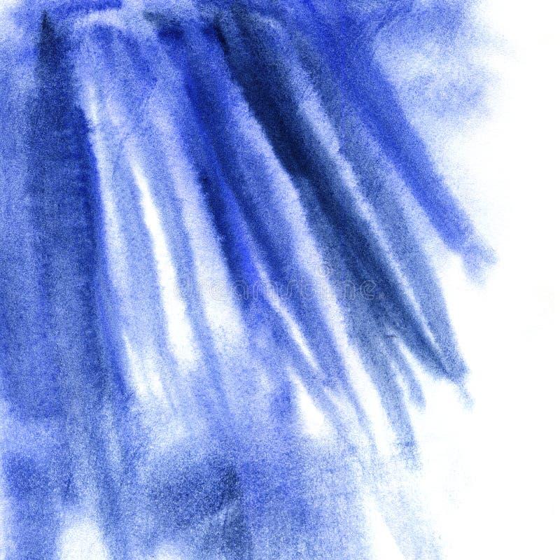 蓝色水彩摘要纹理,蓝色污点 向量例证