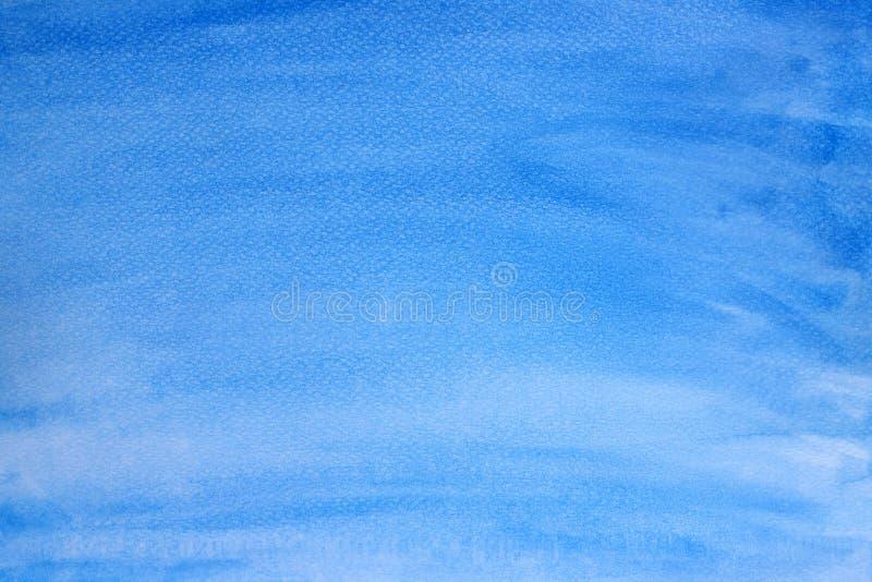 蓝色水彩纹理背景,Brushed绘了抽象水彩背景例证、设计和装饰横幅 向量例证