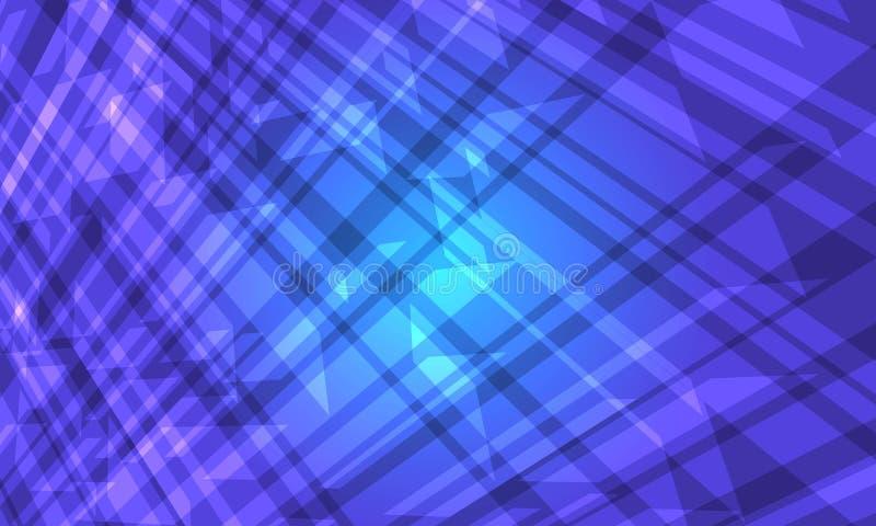 蓝色水晶抽象背景 库存例证