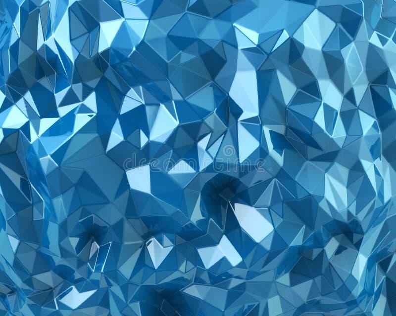 蓝色水晶背景 皇族释放例证