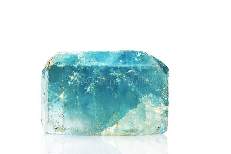 蓝色水晶自然黄玉 免版税库存照片