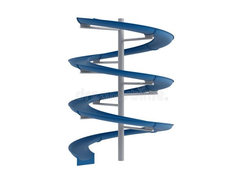 蓝色水滑道 向量例证