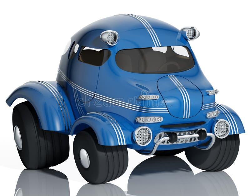 蓝色汽车。 向量例证