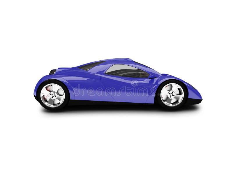 蓝色汽车前面超级视图 向量例证