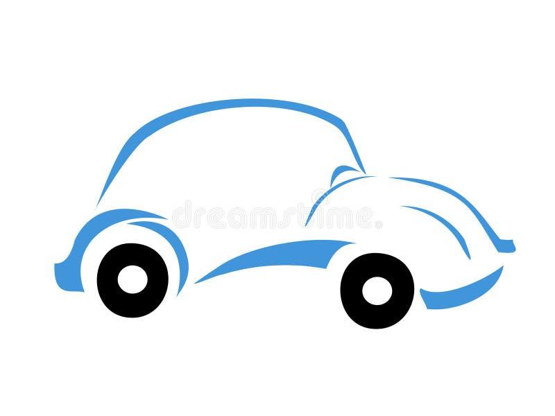 蓝色汽车徽标 向量例证