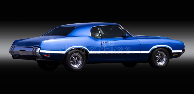 蓝色汽车肌肉 库存照片