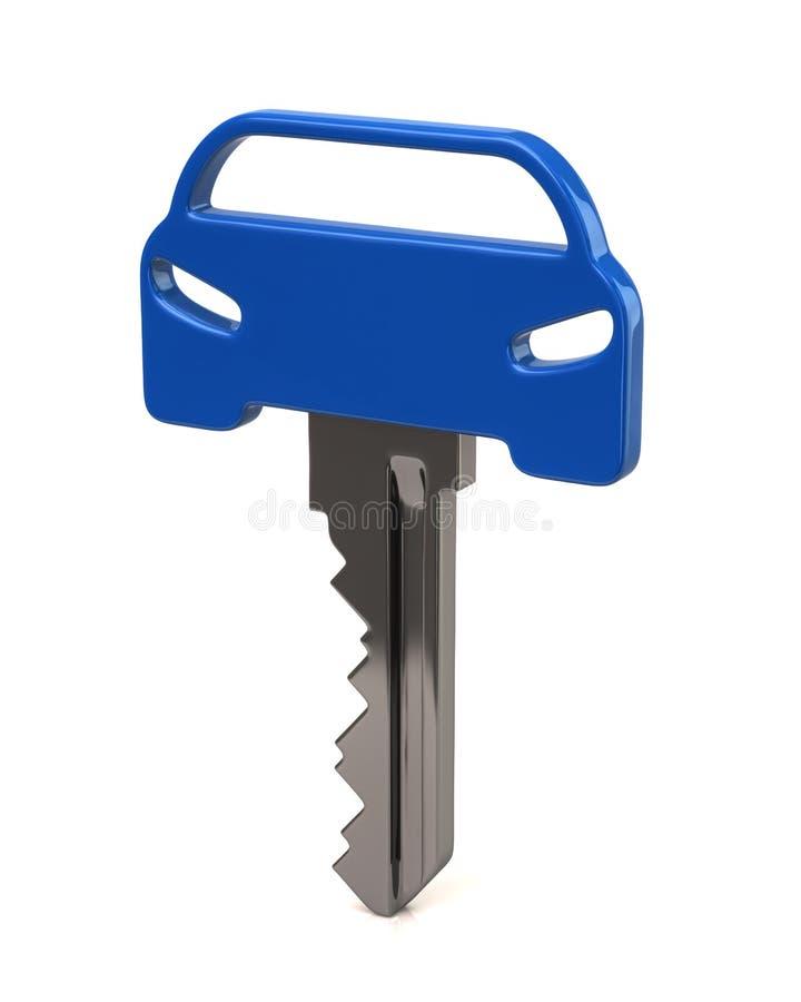 蓝色汽车钥匙 库存例证