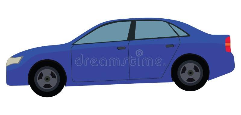 蓝色汽车 库存例证