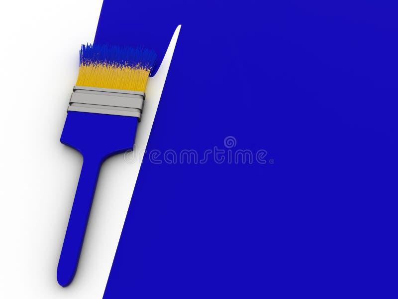 蓝色油漆 向量例证