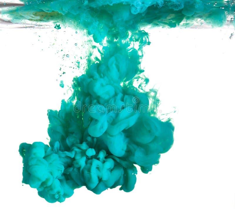 蓝色油漆水 库存照片