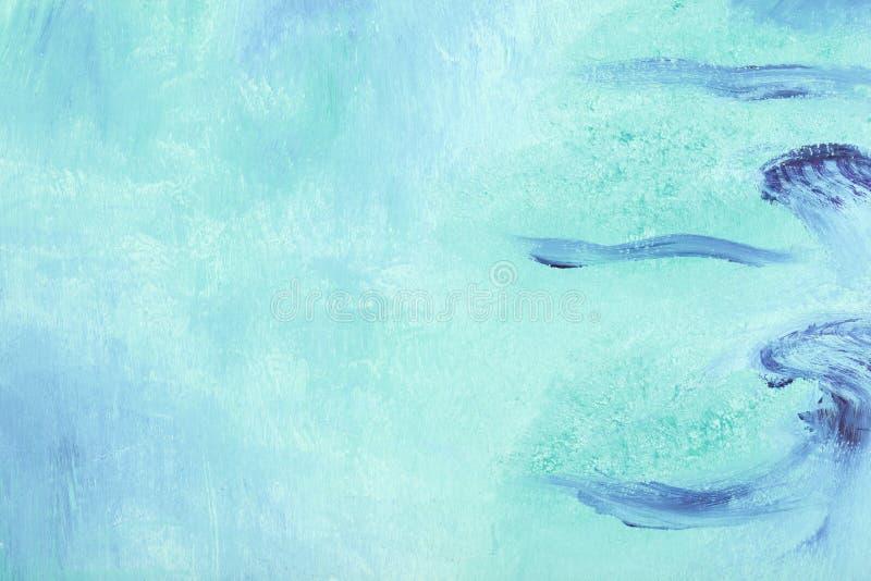 蓝色油画 库存照片