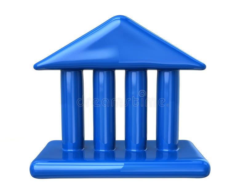 蓝色法院大楼象 库存例证