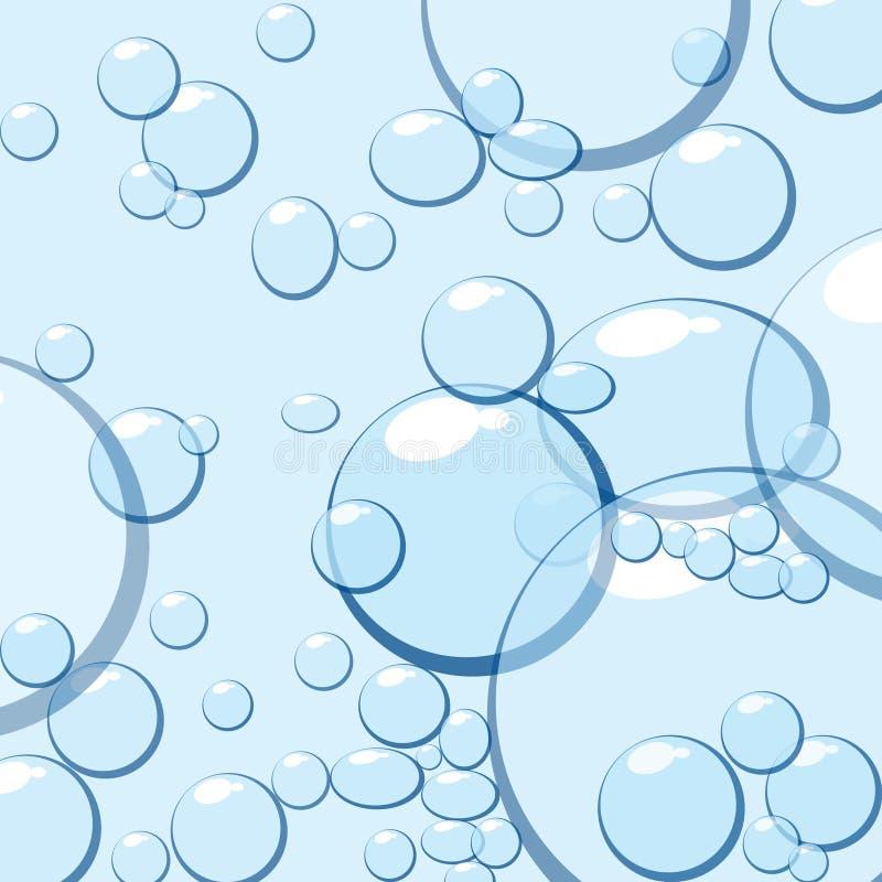 蓝色泡影水 向量例证