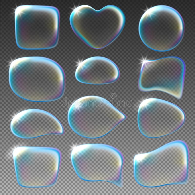 蓝色泡影肥皂结构音调 皇族释放例证