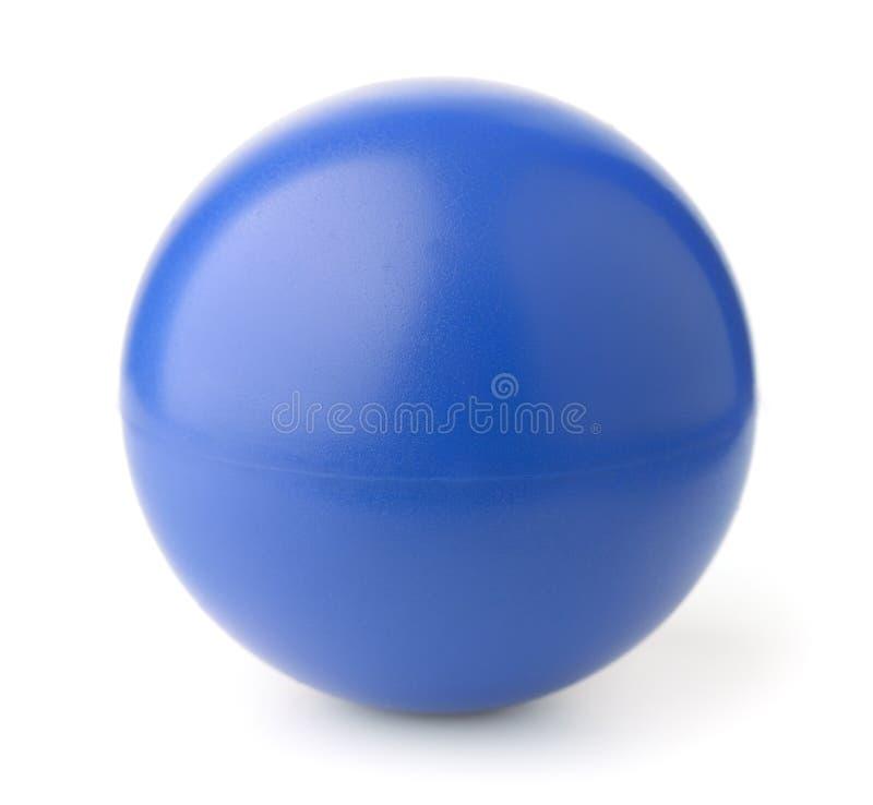 蓝色泡沫重音球 库存照片