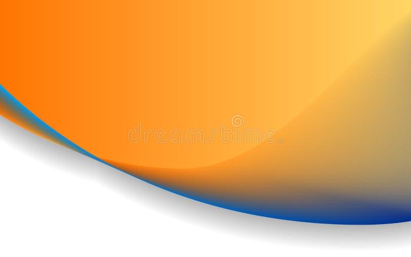 蓝色波浪背景2 向量例证