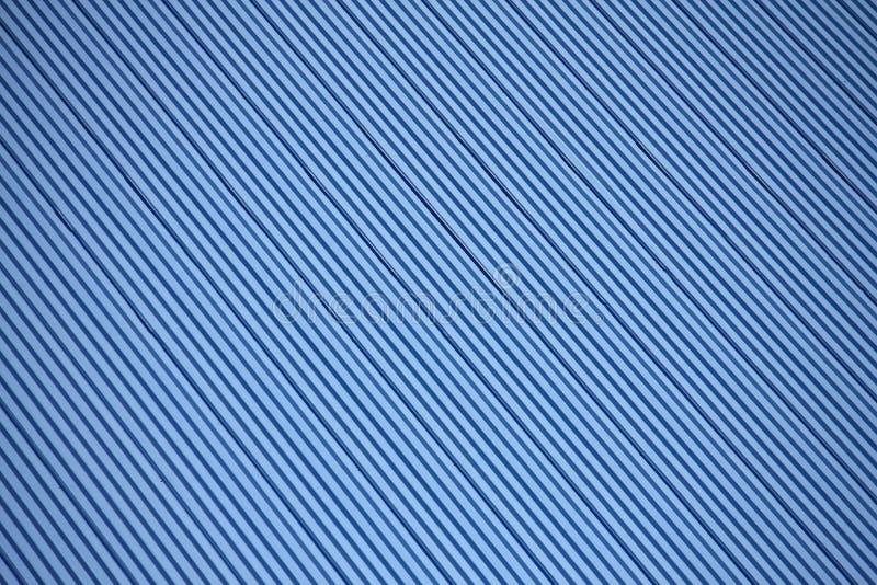 蓝色波纹状的金属屋顶纹理 库存图片