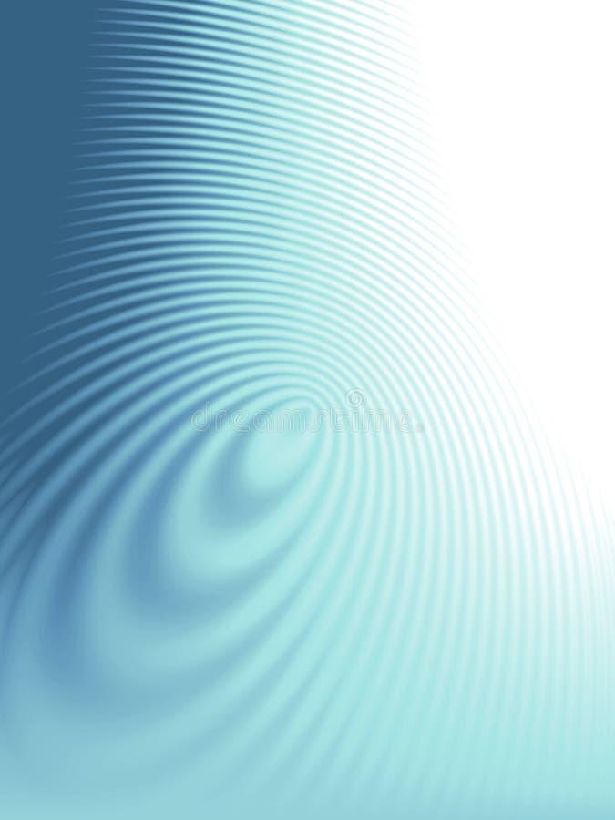 蓝色波纹纹理通知 向量例证