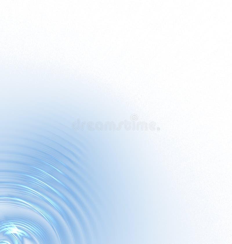 蓝色波纹 库存例证
