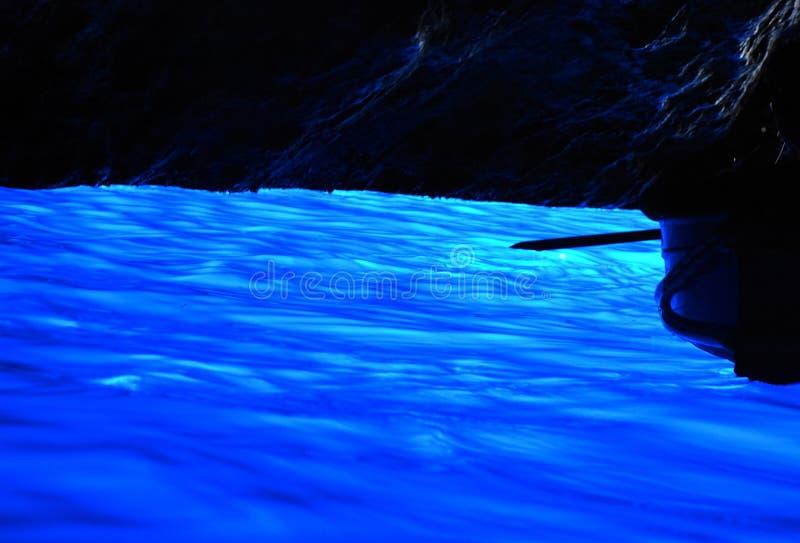 蓝色洞穴在卡普里海岛,那不勒斯,意大利 免版税库存图片