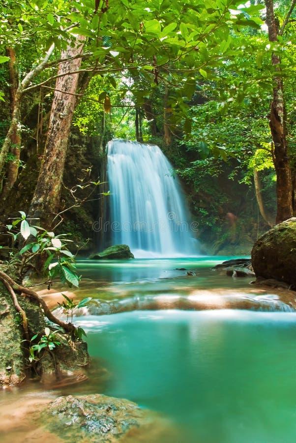 蓝色流瀑布 库存图片