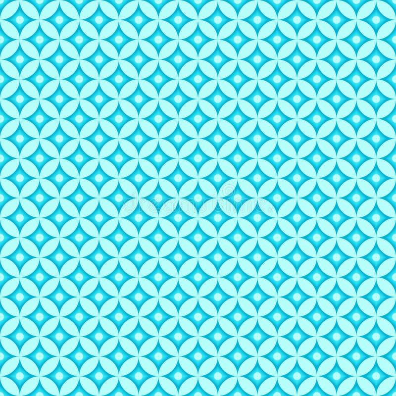 蓝色海主题的样式 向量例证