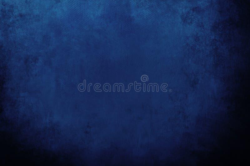 蓝色海军脏的背景 免版税库存图片