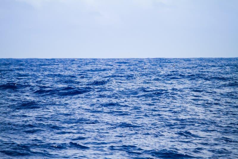 蓝色海天空 美好的海景背景 库存照片