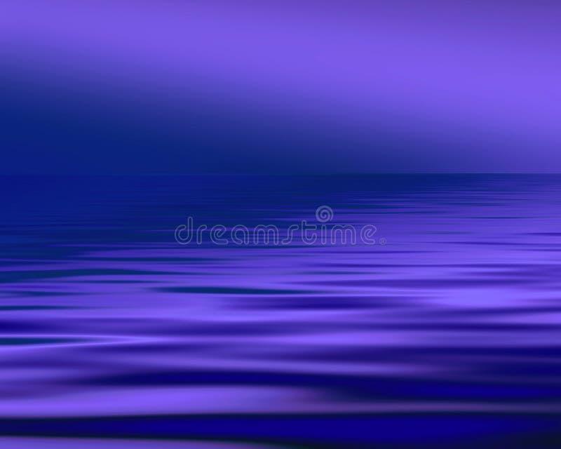 蓝色海景 皇族释放例证