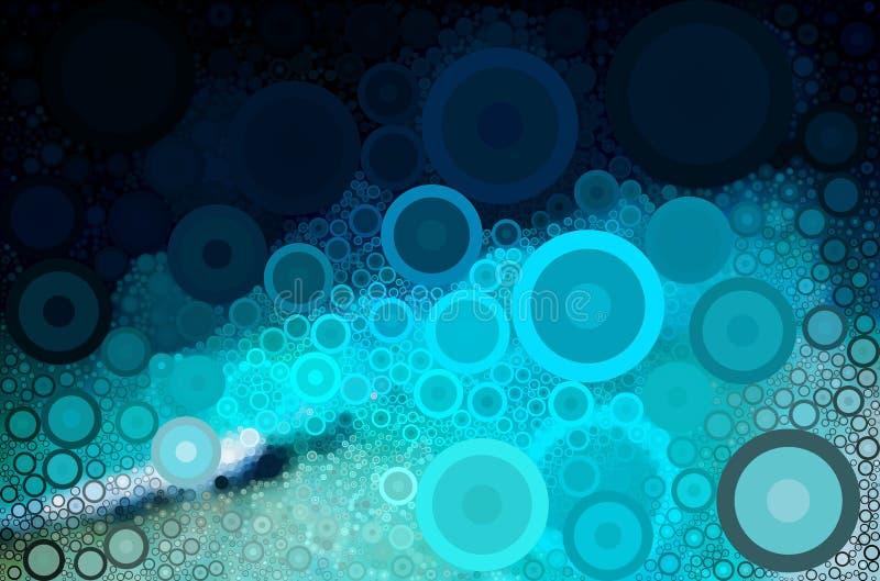 蓝色海洋盘旋摘要 皇族释放例证