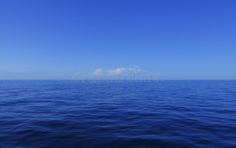 蓝色海洋 免版税图库摄影