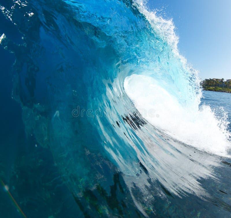 蓝色海浪 免版税库存照片