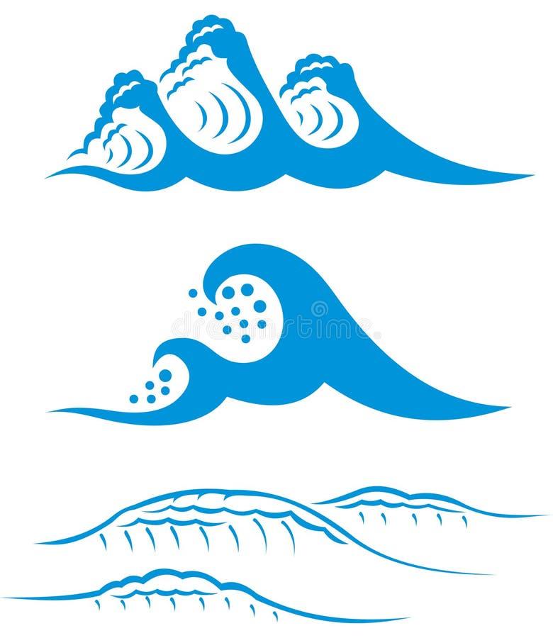 蓝色海运通知 向量例证