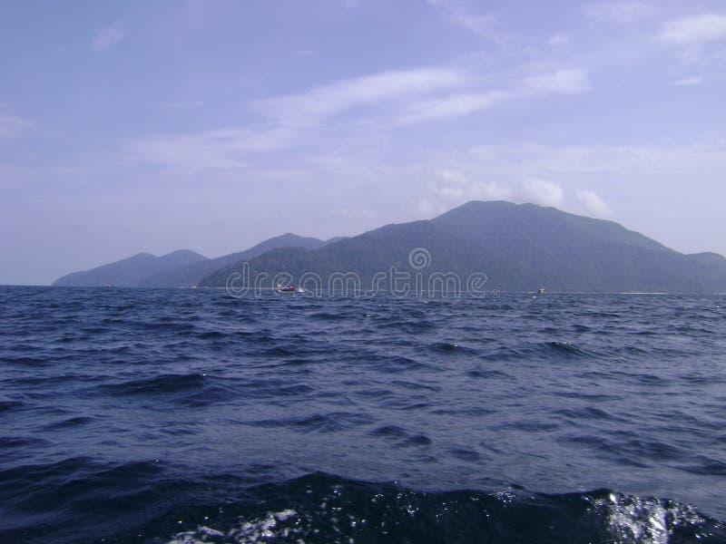 蓝色海,泰国 免版税库存照片